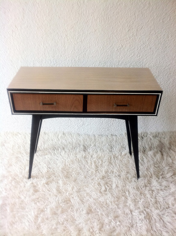 Description: Formica Furniture Hall Dimensions: Width 84 Cm / Height 74,5  Cm Conservation Status: Restored Units: 1 Price: Sold